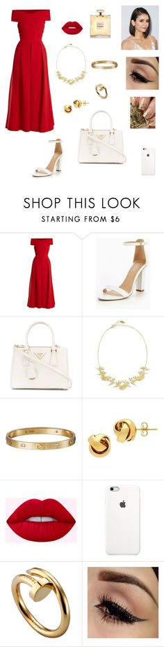 """""""Untitled #126"""" by xlaceyx ❤ liked on Polyvore featuring Preen, Prada, Noir Jewelry, Cartier and Lord & Taylor"""