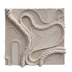 Texture Art, Texture Painting, Wall Sculptures, Sculpture Art, Fabric Manipulation Techniques, Rope Art, Cool Art Projects, Mid Century Art, China Art