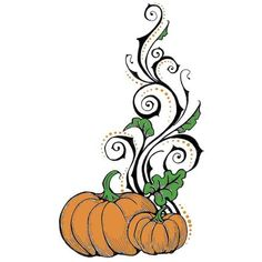 Pumpkin Flourish, would be great for Halloween Henna