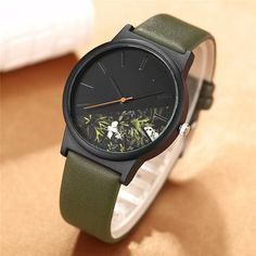 Fashion Tropical Jungle Design Watch Men Women Unisex Unique Quartz Wrist Watch For Ladies Creative Sport Men Watches Clock Gift Simple Cheap Watches Outfit Accessories From Touchy Style .| Style: QP051.
