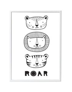 Poster Roar - A little lovely company - DE GELE FLAMINGO