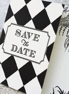 Striking save-the-date from Ceci New York. #aceofhearts   #savethedate  #dramaticwedding