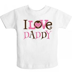 Inktastic Little Girls' I Love Daddy cute Toddler T-Shirt 3T White