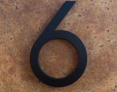 Casa moderna numero alluminio moderno Font numero sei 6 in nero