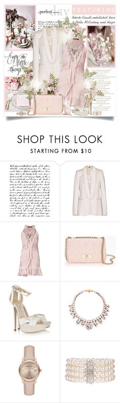 """""""Enjoy the little things..."""" by mrstom ❤ liked on Polyvore featuring STELLA McCARTNEY, Roberto Cavalli, Kate Spade, Jimmy Choo, Shourouk, Sarah Jessica Parker, Burberry and Mastoloni"""