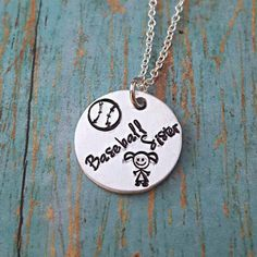Check out this item in my Etsy shop https://www.etsy.com/listing/501725000/baseball-sister-baseball-sister-necklace