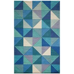 Momeni Delhi Wool Rug in Blue/Diamond