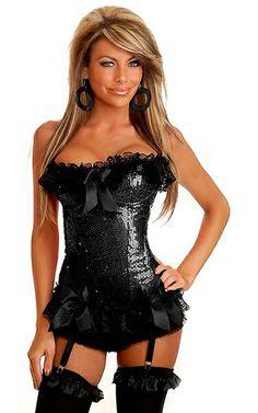 7918c54e44 Sequin Burlesque Underwire Corset w Removable Straps  Sequin corset with  underwire cups