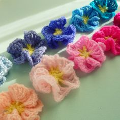 🌼 Amor-Perfeito de Crochê  Padrão -  / 🌼 Love-In-Idleness of Crochet Hooks Default -