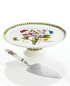 Portmeirion Dinnerware, Botanic Garden Footed Cake Stand with Server - Casual Dinnerware - Dining & Entertaining - Macy's