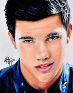 Heather Rooney Art - Colored pencil drawing of Taylor Lautner.