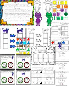 "Unit, ""A Cat's Colorful Shoes: Retelling & Extension Activities"" (from Preschool Wonders on TpT)"
