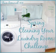 Four task for cleaning laundry room {on Stain Removal 101}