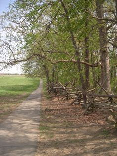 """Gettysburg path off Confederate Avenue; a great """"stepping-off"""" spot to walk the land of Pickett's Charge. I prefer to go quietly and with reverence."""