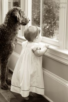 Best friends. Waiting on Mom to come home. #prolife