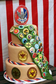 I had the great privilege of helping plan and style an Eagle Scout Court of Honor for a wonderful yo. Scout Mom, Cub Scouts, Girl Scouts, Eagle Scout Cake, Boy Scout Badges, Eagle Scout Ceremony, Eagle Project, Scout Camping, Girl Guides
