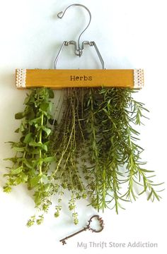 Glorious Garden Gifts mythriftstoreaddiction.blogspot.com Repurposed hanging herb drying rack available at Etsy: Secret Garden Herbs