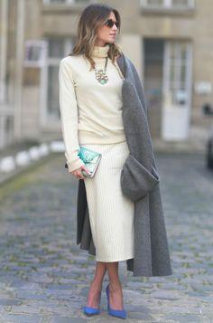 winter white & gray cashmere