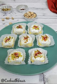 Indian Dessert Recipes, Indian Sweets, Indian Snacks, Sweets Recipes, Easy Desserts, Indian Food Recipes, Cooking Recipes, Falooda Recipe, Burfi Recipe