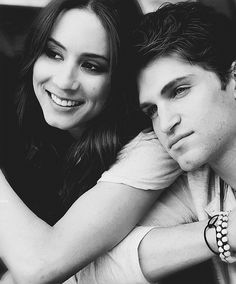 Troian Bellisario and Keegan Allen aka Spencer Hastings and Toby Cavanaugh- Pretty Little Liars