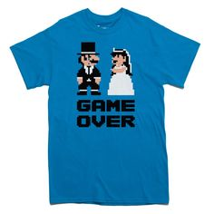 GAME OVER Tshirt wedding bachelor party groom by PoutinePress, $18.00