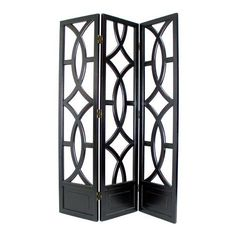 Intersecting Circles Three-Panel Room Divider | from hayneedle.com