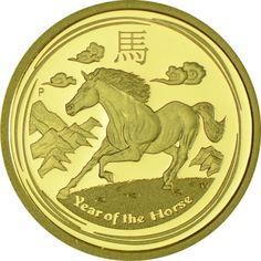 25 Dollar Gold Lunar Pferd - 1/4 Unze PP