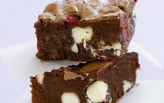 Raspberry and whit chocolate Brownies. Photography by Ben Dearnley. Food styling by Marie-Helene Clauzon
