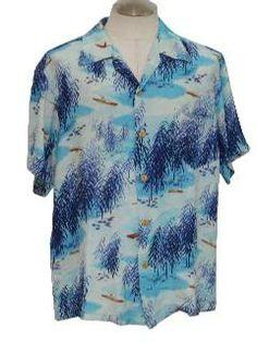 d26240da 1950's Mens Hawaiian Shirt Vintage Hawaiian Shirts, Mens Hawaiian Shirts, Aloha  Shirt, Vintage