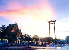 Wat Sutat and the Giant Swing. Thailand