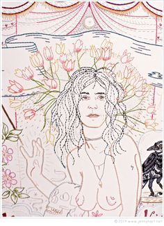 Embroidery As Art: Patti Smith by Jenny Hart