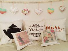 Almohadones de lienzo by Gara Deco. Artículos para el hogar.