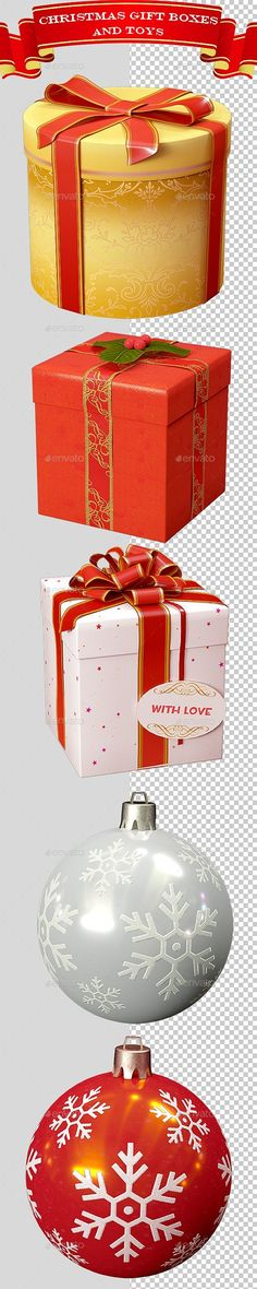 #3D #Christmas Gift Boxes and Toys Ver.1 - Objects 3D #Renders