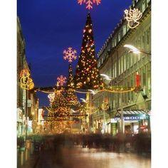 Christmas In Dublin Henry Street At Night DublinIreland Canvas Art - The Irish Image Collection Design Pics (13 x 17)