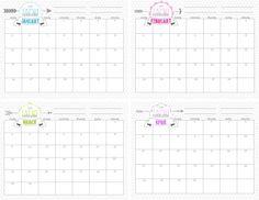 Free printable academic calendar for 2017-2018 school year
