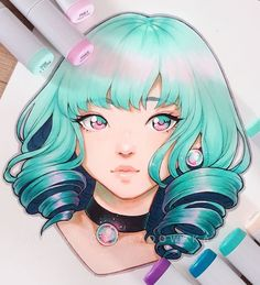 Manga Drawing Ideas Asia Ladowska создает иллюстрацию, фандары, комиксы и учебники Copic Drawings, Anime Drawings Sketches, Manga Drawing, Manga Art, Cute Drawings, Pencil Drawings, Marker Kunst, Copic Marker Art, Copic Art