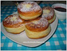 Takarékos konyha: Pampuska/szalagos fánk Churros, Doughnut, Donuts, French Toast, Cookies, Breakfast, Food, Hungarian Recipes, Frost Donuts