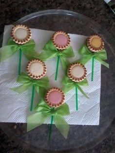 Pirulitos de biscoitos