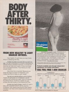 diets of 1980s womans day
