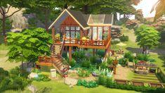 Sims 4 House Design, Tiny House Design, Big Minecraft Houses, Muebles Sims 4 Cc, Sims House Plans, Casas The Sims 4, Sims Building, Sims 4 Build, Decoration Originale