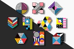 Geometric Patches on Behance