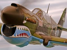 Curtiss P-40 Warhawk ★ An all-metal, 300 mph fighter, the P-40 was the frontline U.S. fighter when the war began. It was made famous by Claire Chennault's Flying Tigers, who, among other squadrons, painted shark's teeth on its nose.