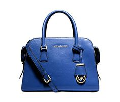 Women's Wallets - Michael Kors Harper Medium Satchel ELECTRIC BLUEGOLD >>> Find out more about the great product at the image link.