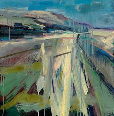 Peter Iden Artist: Rainy Summer Walk 2010 Oil on Board Estate of Peter Iden Landscape Sketch, Landscape Artwork, Abstract Landscape Painting, Seascape Paintings, Abstract Canvas, Oil Paintings, Great Paintings, Art Images, Modern Art