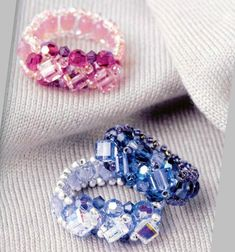 free pattern--More free ring patterns at this site ~ Seed Bead Tutorials