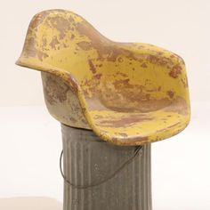 Very early model of Eames Fiberglass Arm Chair in the collection of The Henry Ford Museum