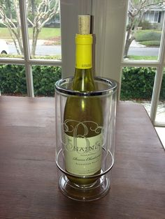Monogrammed Acrylic Wine Cooler