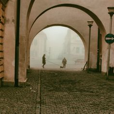 'under the arches in Bardejov' on Picfair.com