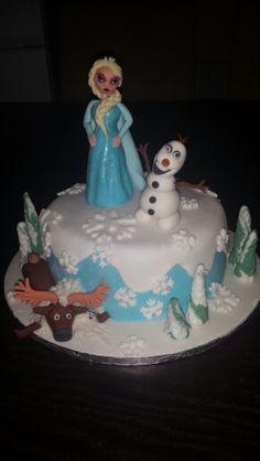 Elsa Olaf Frozen cake
