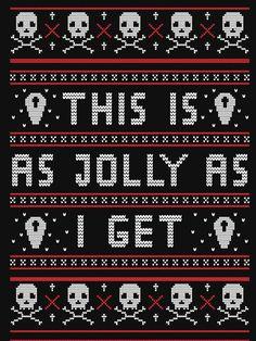 'Emo Gothic Ugly Christmas Sweater' Lightweight Sweatshirt by fallenapple – Hanukkah Diy Hanukkah, Hanukkah Decorations, Christmas Hanukkah, Happy Hanukkah, Christmas Time, Dark Christmas, Christmas Vinyl, Christmas Shirts, Merry Christmas